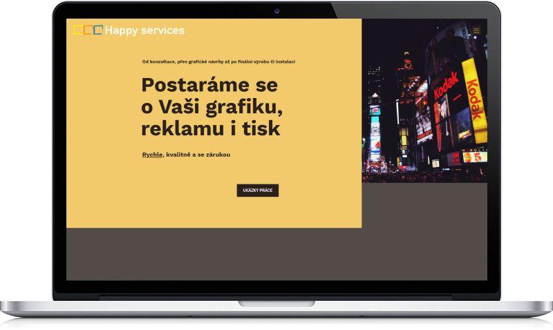 Ukázka webu Happy services