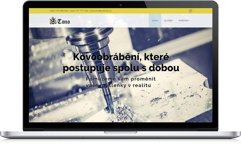 Ukázka webu Tono CNC