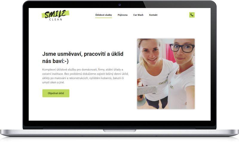 Ukázka webu Smileclean