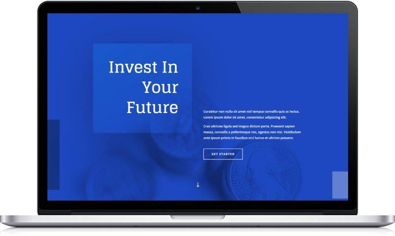 Ukázka webu Finance