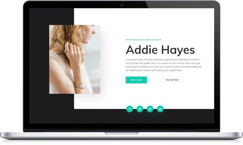 Ukázka webu osobní stránky