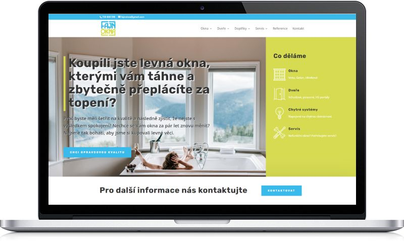 Ukázka webu Fajn Okna